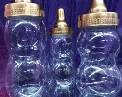 baby bottle centerpieces fillable baby bottle etsy
