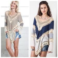 boho crochet 46 umgee tops bohemian boho crochet lace fringe blouse from