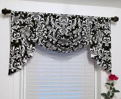 swag and jabots classic window treatments black u0026 white damask