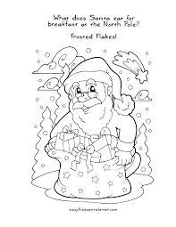 free printable christmas coloring pages with jokes coloring