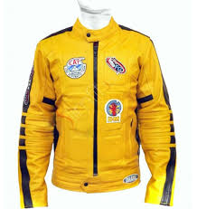 street bike jackets bill uma thurman yellow motorcycle replica jacket