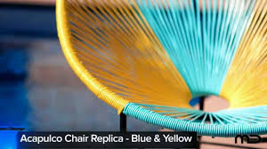 Acapulco Chair Replica Acapulco Chair Replica Outdoor Wicker Blue U0026 Yellow Milan