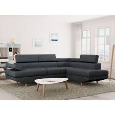 canapé d angle anthracite 330 sur canapé d angle style scandinave 4 places tissu gris foncé