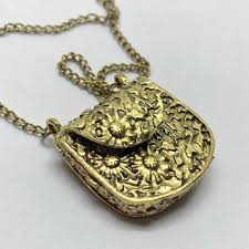 necklace locket images Funky handbag locket necklace 24 chain from antique 39 s closet on jpg