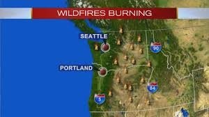 fires burn throughout the state of oregon