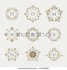 classic design vector monograms graphic design pages boutiques stock vector