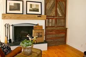 Barnwood Cabinet Doors by The Polished Pebble The Fireplace Mantle Part 2 Done