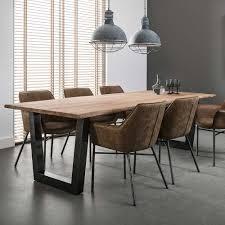 design holztisch design esstisch aus akazie massivholz edelstahl holztisch