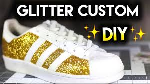 how to double sparkle non shedding glitter shoes adidas