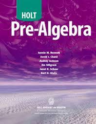 calaméo pre algebra holt