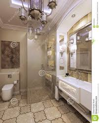 bathroom elegant bathroom moroccan style d render 56455642