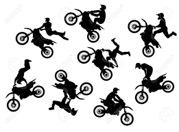 motocross bike images isolated motocross rider jump vector set royalty free cliparts