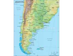 physical map of argentina arman info