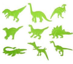 glow in the dark night dinosaurs stickers kids room wall art