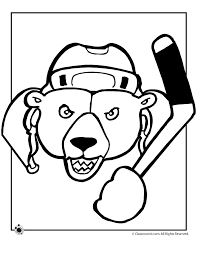 polar bear color page hockey polar bear coloring page woo jr kids activities