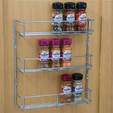 Wall Mount Spice Cabinet With Doors Wall Mount Storage Kitchen Shelf Pantry Holder Door Spice Rack