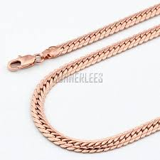 rose gold necklace fashion images New fashion jewelry 5mm mens womens 18k rose gold filled necklace jpg