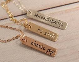 name charm necklace bar charm necklace etsy
