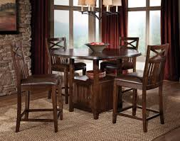 Dining Room  Wonderful Counter Height Dining Table Leather Chairs - Bar height dining table with 8 chairs