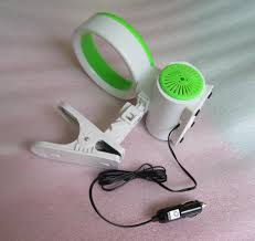 plug in car fan car cooler auto cigar plug bladeless fan cute mini bladeless air