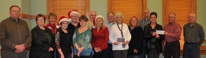 logan county commissioners receive 5 000 for courthouse christmas
