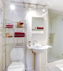 guest bathroom decorating ideas white simple guest bathroom decor ideas with track lighting