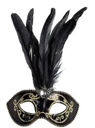 mask with feathers black masquerade mask with feathers masks and fancy dress