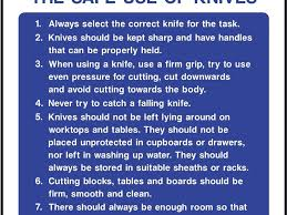 Best Knives For The Kitchen The Safe Use Of Knives Safety Sign Kitchen Safety Rules Safety