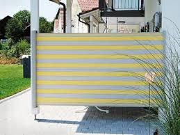 streifenmuster stoff ideen garten und balkon windschutz sicht - Windschutz Balkon Stoff