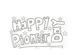 pioneer day clip art