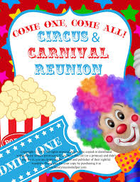 circus or carnival themed family reunion or digital