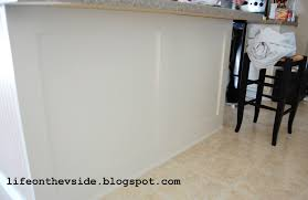 Wainscoting Kitchen Cabinets On The V Side Diy Kitchen Island Update