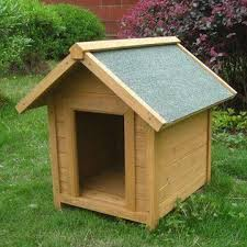 Dog Patio Dog Kennel Cage Made Of Solid Fir Wood With Patio Porch And