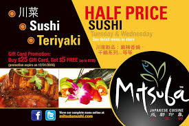 restaurant gift cards half price mitsuba ithaca home ithaca new york menu prices