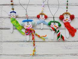 snowman ornament made from recycled make and takes