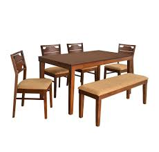 home by nilkamal olenna four seater dining kit walnut amazon in