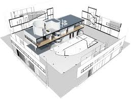 House Models And Plans The Ville Savoye 3d Model And Plans Created With Visualarq