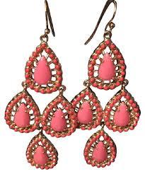 Pink Chandelier Earrings Stella Dot Pink Chandelier Earrings Tradesy