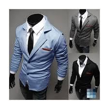 light blue jacket mens sky blue cotton blends coat by gobuu shopeer