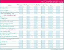 Home Maintenance Spreadsheet by Finally Here Home Management Binder Printables Car