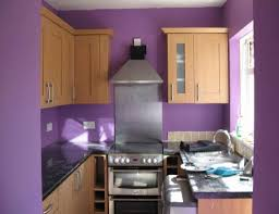 Purple Kitchen Decorating Ideas Fashionable Purple Small Kitchen Ideas With Walnut Oak Kitchen