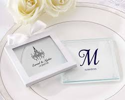 personalized wedding favors cheap personalized glass coasters set of 12
