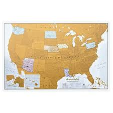 us states detailed map scratch usa scratch places you travel america
