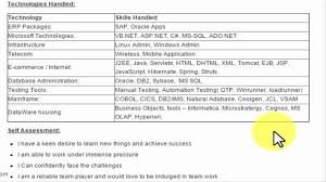 Sample Resume For Qtp Automation Testing by Hr Manager Sample Resume Cv For Freshers And Experienced Youtube