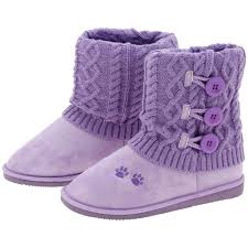 womens knit boots size 11 purple paw mid rise knit boots the rescue site
