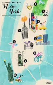 A Map Of New York City by The Disney Map Of New York City Oh My Disney