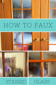 an awesome wet rock look garden how to using spray paint how to make a beautiful faux stained glass french door