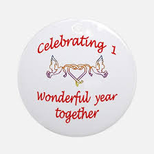 first year together christmas ornament cafepress