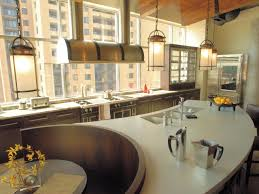 circular kitchen island kitchen island u0026 carts cream polished concrete countertop