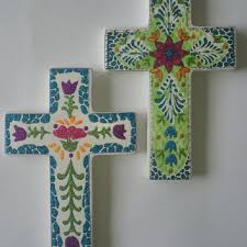 wall crosses ceramic cross holy wall cross religious flower cross